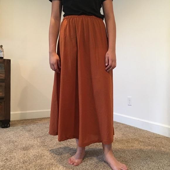 c26047582 Forever 21 Dresses & Skirts - Forever 21 Midi Maxi Long Orange Rust Skirt